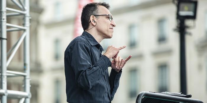 Our BSL Inrepreter at West End LIVE 2018 (Photo: Pamela Raith)