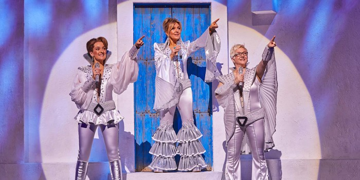(l-r) Kirsty Hoiles as Tanya, Mazz Murray as Donna & Ricky Butt as Rosie in MAMMA MIA_ Credit Brinkhoff & Mögenburg