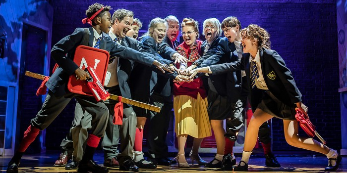 The cast of The Secret Diary Of Adrian Mole - The Musical (Photo: Pamela Raith)