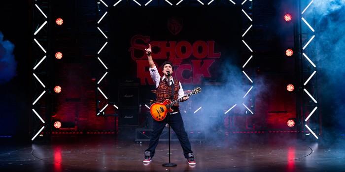 Noel Sullivan as Dewey Finn in School Of Rock - The Musical (Photo: Craig Sugden)