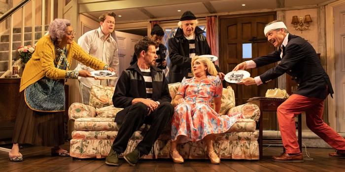 The Company of Noises Off at Lyric Hammersmith. Photo Credit: Helen Maybanks