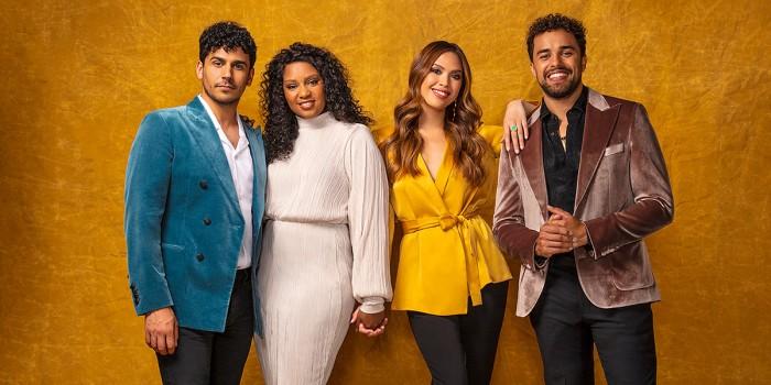 Liam Tamne, Alexia Khadime, Christine Allado and Luke Brady will star in The Prince Of Egypt musical (Photo: Darren Bell)