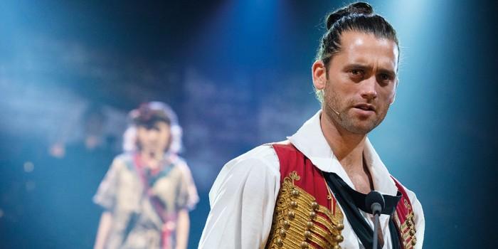 Bradley Jaden as Enjolras - Photograph Matt Murphy