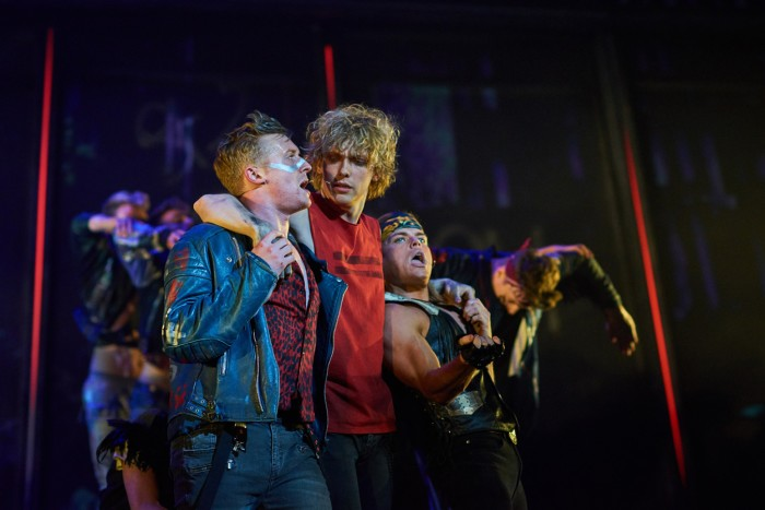Patrick Sullivan as Blake Andrew Polec as Strat Giovanni Spano as Ledoux in Bat Out Of Hell credit  Specular