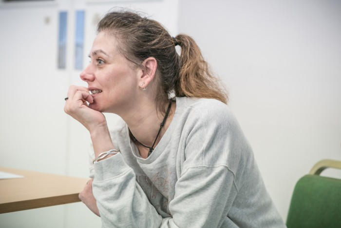 Neve McIntosh - Rehearsals for Killer Joe - Photographer credit Marc Brenner