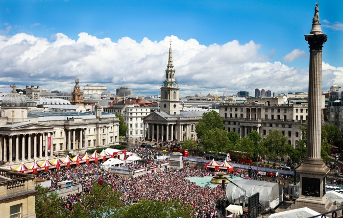 Trafalgar Square during West End Live 2017 c Pamela Raith