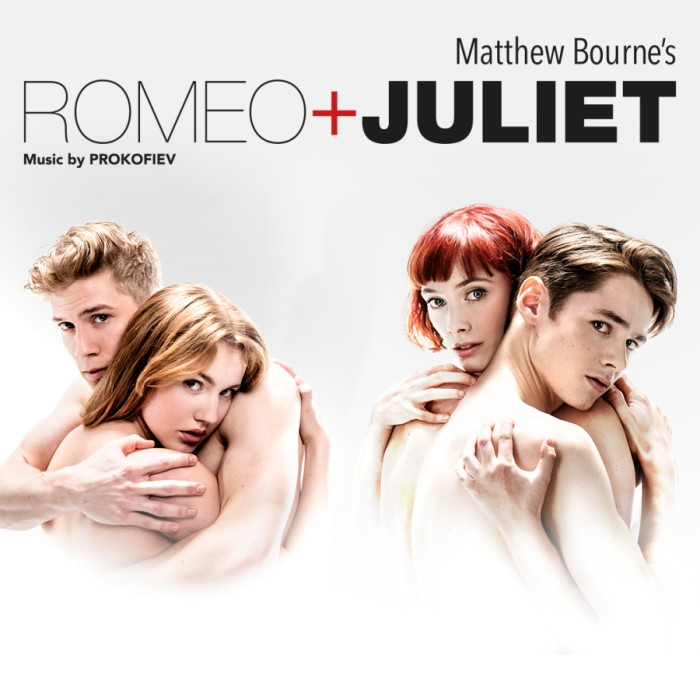 Matthew Bourne's Romeo and Juliet; Seren Williams edit'Juliet' & Andrew Monaghan 'Romeo'. Cordelia Braithwaite 'Juliet' & Paris Fitzpatrick 'Romeo'. Photo Johan Persson