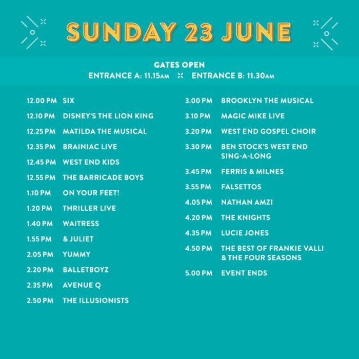 WEL 2019 Sunday lineup