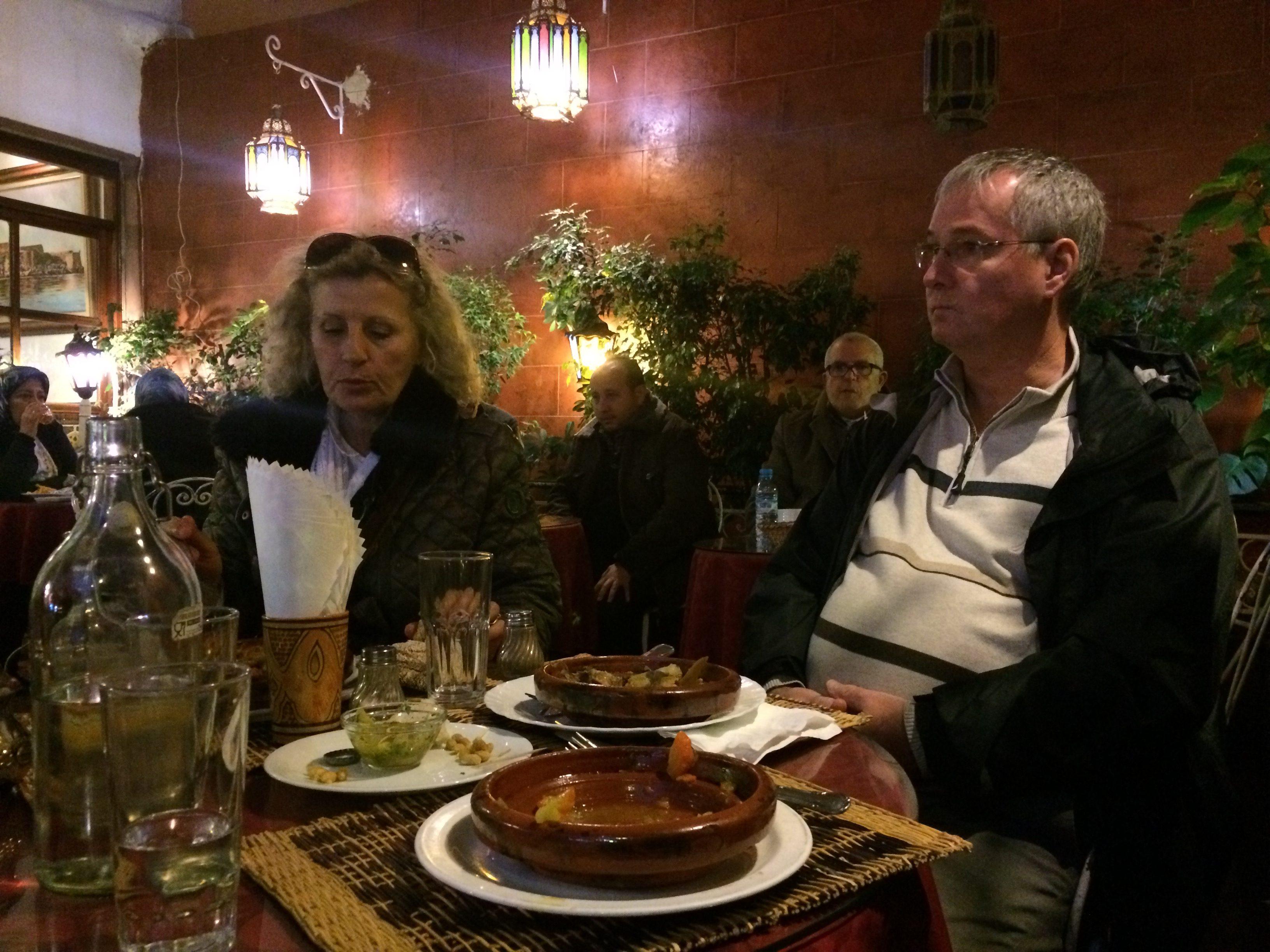 Papa et Najat à notre table