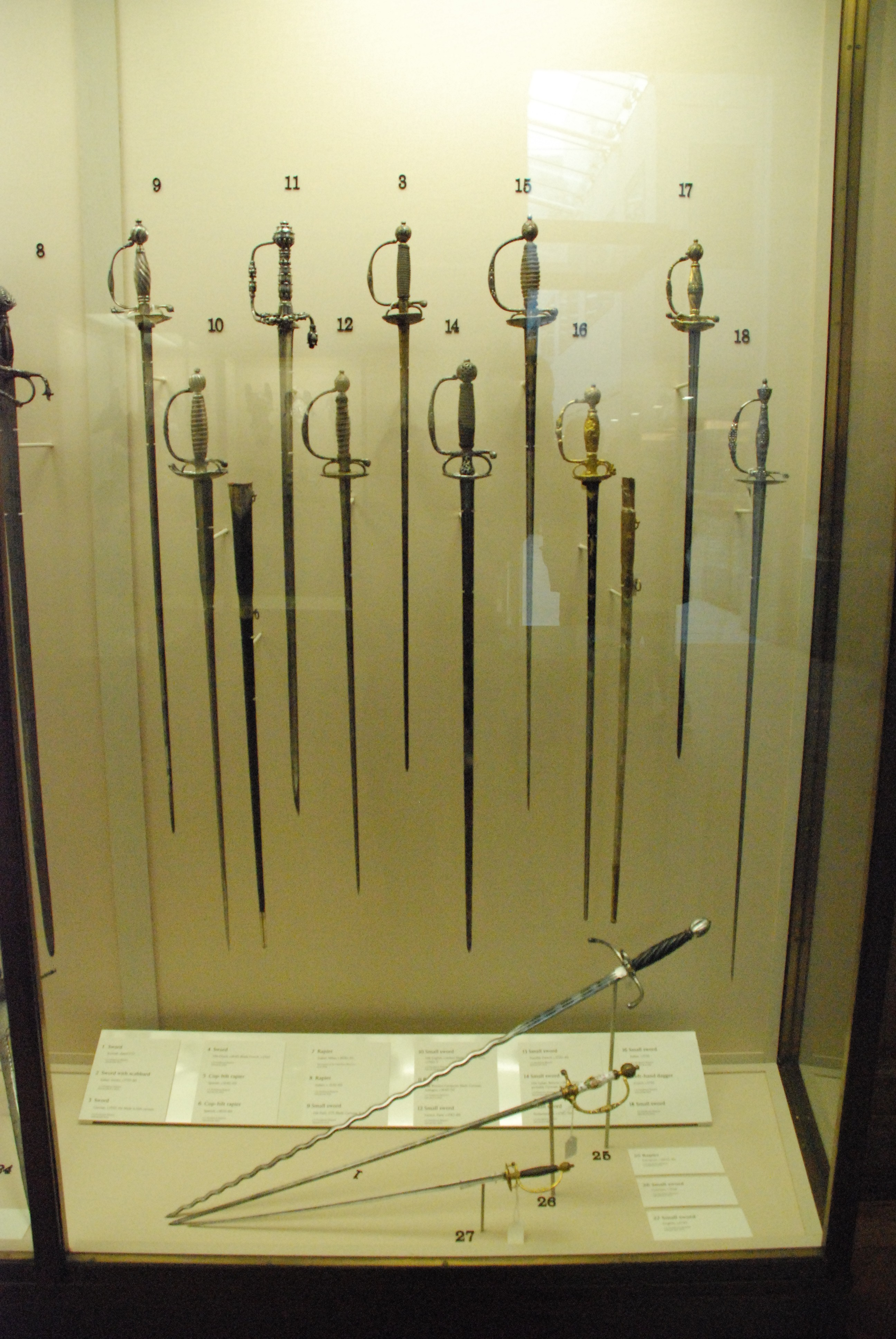 C'est un petit échantillon de toutes les épées présentées