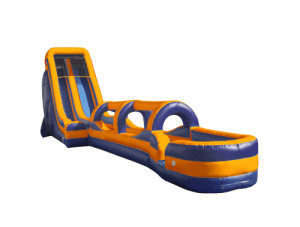 22' Tall Slide Orange/Blue with Slip N Slide