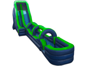 24' Tall Slide Green/Blue with Slip N Slide