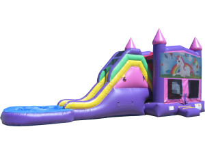 Jump n Slide Pink Wet/Dry Unicorn Castle