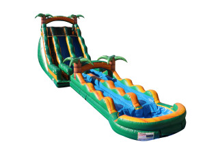 Palm Tree Splash Dual Lane Slide w/ Slip N Slide Attachment