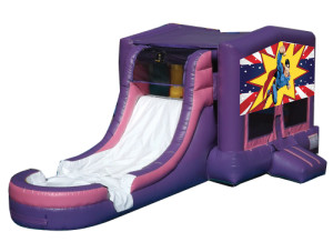 Pink/Purple Superhero Jump N Slide
