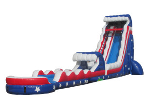 24' Stars and Stripes with Slip n Slide