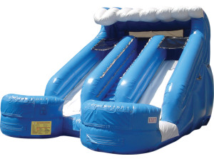 16 'Double Splash Slide $270.00 INCLUDING DELIVERY, SETUP, & PICKUP for a 24 hour reservation.
