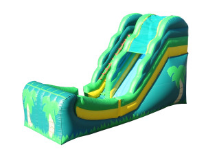 16' half pipe primary colors waterslide