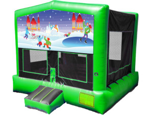 Neon Green Winter Wonderland Bounce