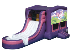Pink/Purple Unicorns Jump N Slide