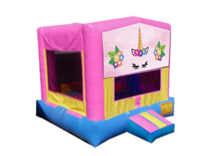 Unicorn Bounce $135.00 15 x 15ft. DELIVERY,SETUP, & PICKUP for a 24 hour rental $135.00! PICKUP on Friday OR Saturday keep Until Monday $135.00!