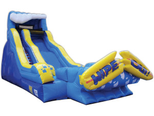 20' Wipeout Slide $300.00 INCLUDING DELIVERY, SETUP, & PICKUP for a 24 hour reservation.