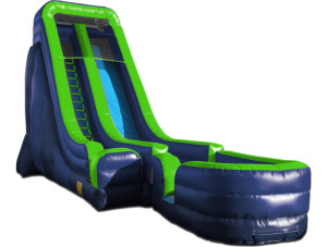 24' Tall Slide Green/Blue