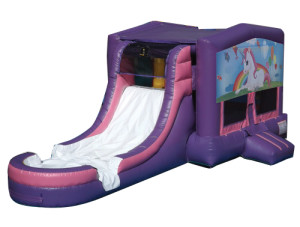 Pink/Purple Unicorns 2 Jump N Slide