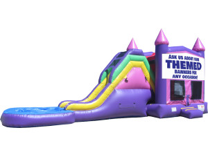 Pink & Purple Modular Jump & Slide 2 w/ Pool