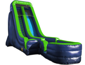 22' Tall Slide Green/Blue