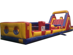 Obstacle Course & Rock Climb Slide Dual Lane Combo