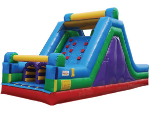 Dual Lane Rock Climb Slide   $250 plus tax includes delivery, set up. 8hr rental