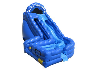 19 Ft Double Lane Blue Monster Slide