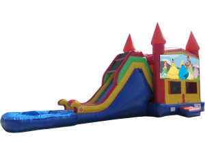 Princess Jump & Slide w/ Pool $250.00 INCLUDING DELIVERY, SETUP, & PICKUP for a 24 hour reservation.