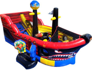 Pirate Ship  Combo $210 plus tax, delivered, set up, 8hr rental