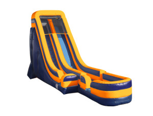 22' Tall Slide Orange/Blue