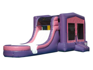 Pink/Purple Jump N Slide $225.00 INCLUDING DELIVERY, SETUP, & PICKUP for a 24 hour reservation.