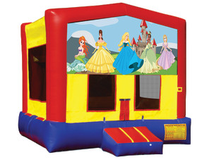Princess Bounce $135.00 15 x 15ft.    INCLUDING DELIVERY, SETUP, & PICKUP for a 24 hour reservation.