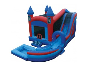4 in 1 Jump N Splash Castle w/Pool