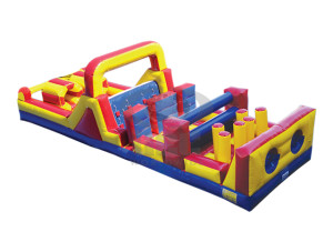 7 Element 38' Obstacle Course w/ Slide