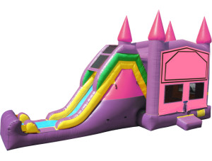 4 in 1 Pink Castle Splash (Optional Splash Pool)