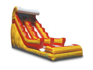 19' Fire Wave Slide $280.00 INCLUDING DELIVERY, SETUP, & PICKUP for a 24 hour reservation.