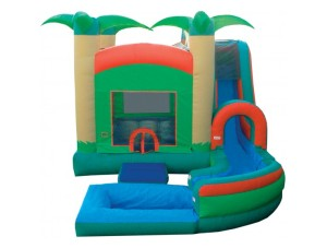 4 in 1 Jump N Splash Tropical w/Pool