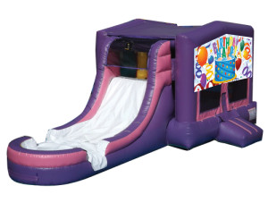 Pink/Purple Birthday Jump N Slide