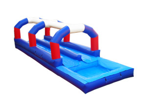 Red/White/Blue Dual Lane Slip N Slide