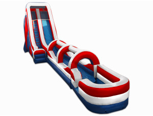 24' Tall Slide Red/White/Blue with Slip N Slide