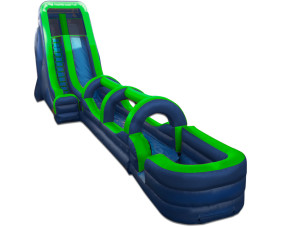 22' Tall Slide Green/Blue with Slip N Slide