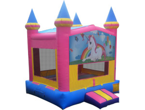 Unicorn Pink/Yellow Castle