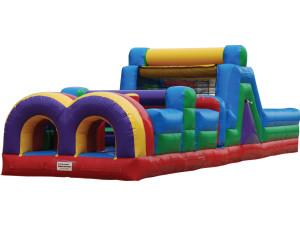 40' Obstacle Course w/ Slide