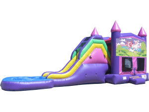 Pink/Purple Unicorns Jump N Slide 2 w/ Pool